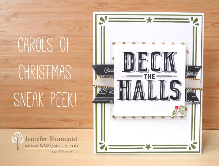 Classy Christmas card using Carols of Christmas Card Builder Framelits