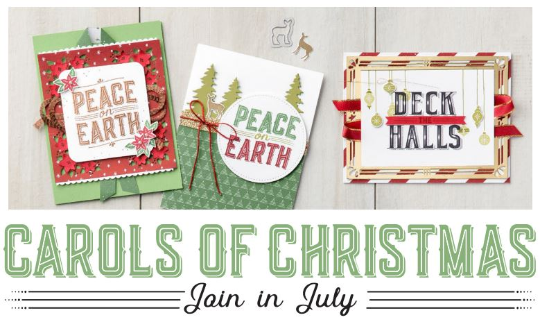 Carols of Christmas free stamp set in july