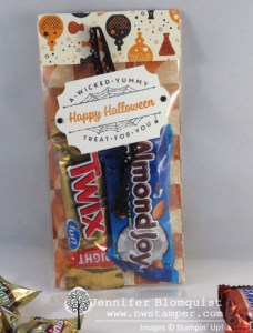 Quick and Easy Halloween gusseted treat bag with Spooky Night paper