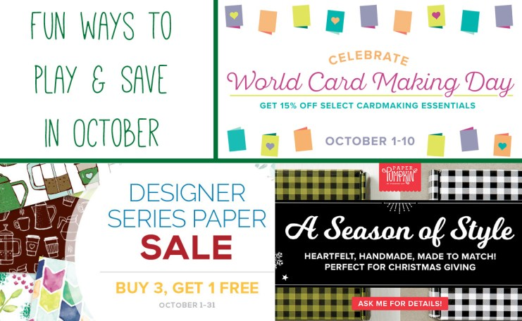 October 2017 Stampin' Up Incentives and Promotions