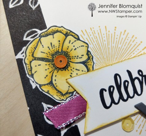 Amazing You Sale-a-bration card idea coloring with blends close up