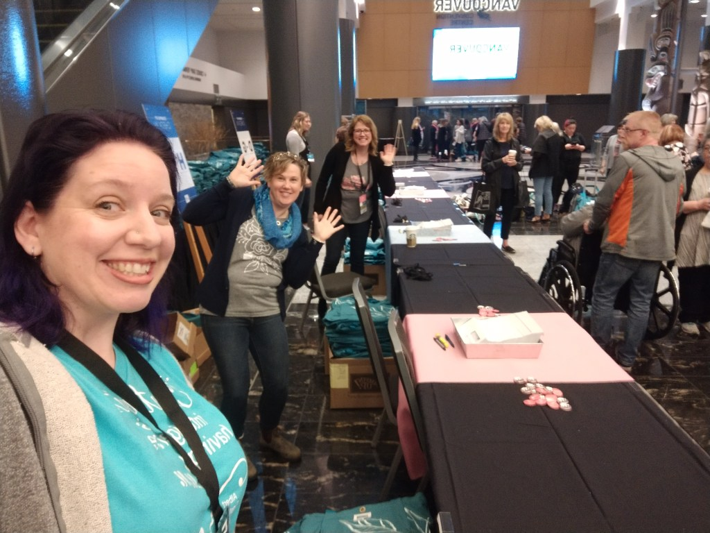 OnStage 2019 check in desk fun! I loved being a helper this time.