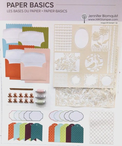 New Stampin' Up paper products for 2019