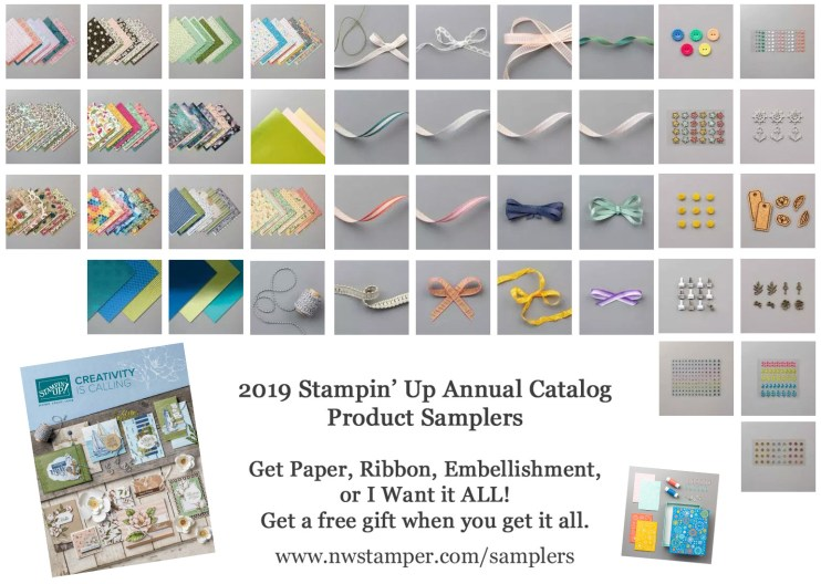 Stampin' Up 2019 Annual Catalog Sampler NWstamper