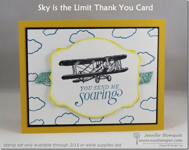 Sky is the Limit Thank You Card