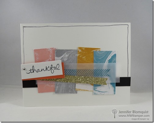 Perfectly Artistic Thank You card from Stampin Up