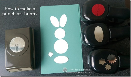 how to make a punch art bunny