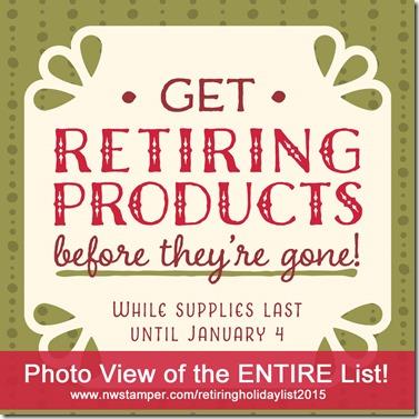 stampin up holiday retiring list 2015