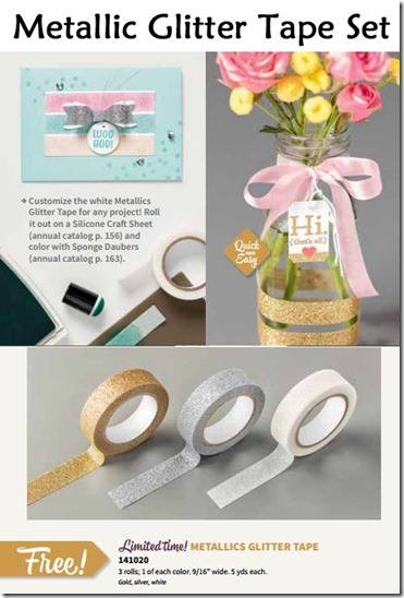 Metallic glitter tape and samples