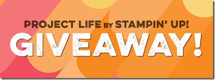 Project Life giveaway