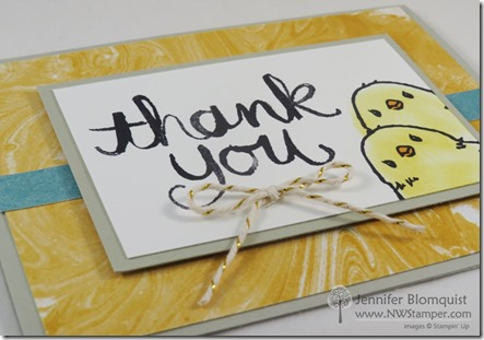 side view of honeycomb happiness thank you card