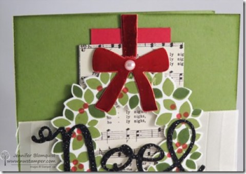 red foil bow from wondrous wreath