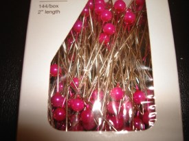 Strong Pink Corsage Pins