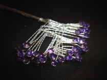 Purple Rhinestone Spray