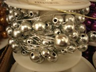 Silver Beaded Wire