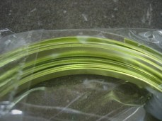 Apple Green Flat Wire