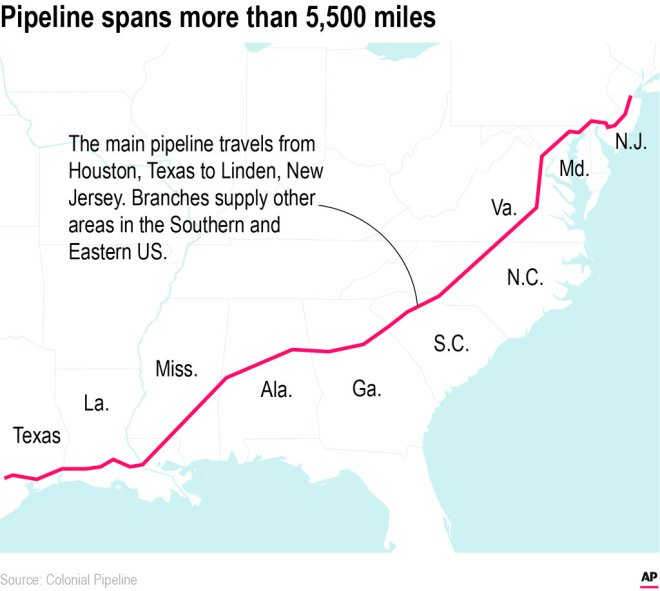 Explainer: How the Colonial Pipeline hack affects you