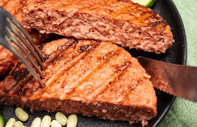 vegan meat patty