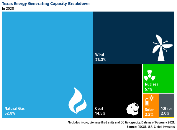 Texas engery generating capacity breakdown