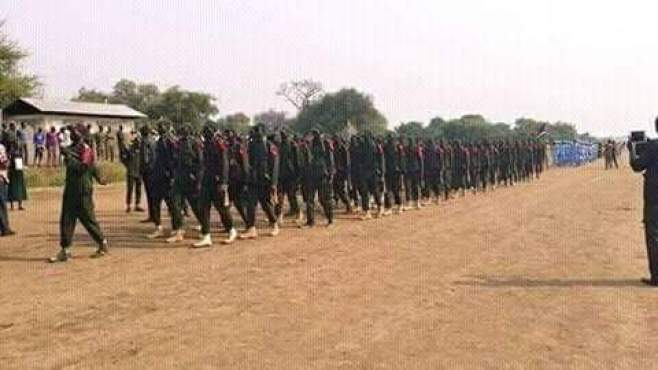 SPLA-IO during a training session in Pagak headquarters(Photo: file)