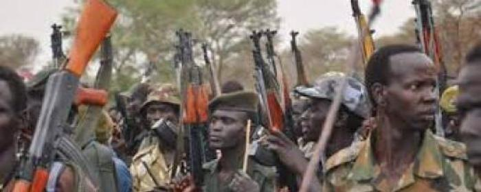 Soldiers of SPLA-IO holding up their guns during a parade in a rebels' held territory of South Sudan(Photo: file)