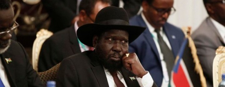 South Sudan's President Salva Kiir attends an urgent session for the Summit of the Inter-Governmental Authority on Development (IGAD) on South Sudan in Ethiopia's capital Addis Ababa June 10, 2014. REUTERS/Tiksa Negeri (ETHIOPIA - Tags: CIVIL UNREST POLITICS)