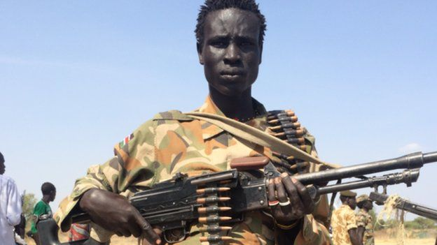 A member of COBRA guerrilla who waged war against Salva Kiir government, today majority of COBRA have joined the Juba regime but some are still waging war against Kiir's led SPLM/SSPDF government(Photo: file)