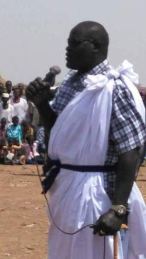 Lt. Gen. Jonhson Olony, the new governor of Fashoda state, during an inauguration ceremony in Fashoda(Photo: file)
