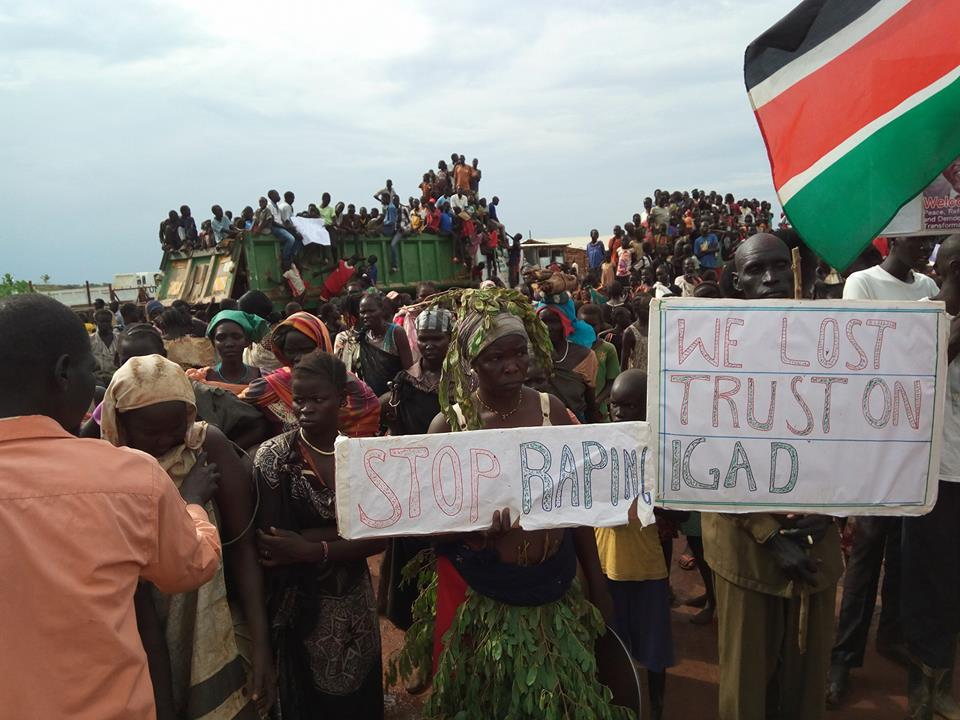 South Sudan's internally displaced persons voice their anger through a demonstration as US ambassador to UN, Nikki Haley, visit them(Photo: file)