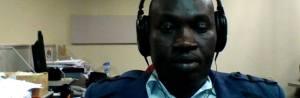 SBS Dinka radio journalist, Ajak Deng Chenkou during a presentation at his radio station(Photo: file)