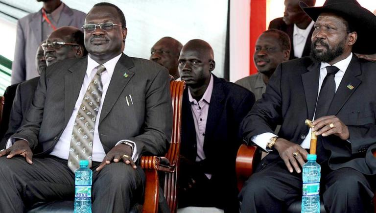 President Salva Kiir and Vice President, Dr. Riek Machar during the independent government of South Sudan(Photo: file)