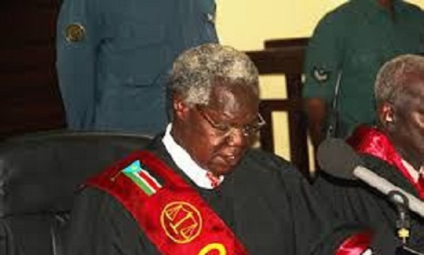 South Sudan's Chief Justice Chaan Reec Madut (File photo)