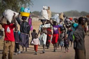 Refugees from South Sudan fleeing unidentified location (photo credit: supplied))