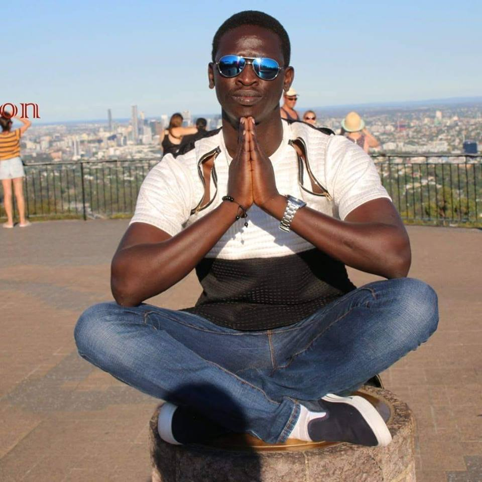 South Sudan's sensational artist, Kang John John, posting for a picture(Photo: file)