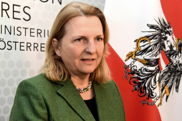"Karin Kneissl,  Austrian Federal Minister for Europe, Integration and Foreign Affairs(Photo credit: Bundesministerium für Europa, Integration und Äußeres"")"