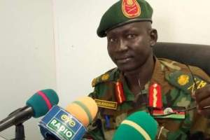 Army spokesman Maj-Gen. Lul Ruai Koang (Photo credit: Eyet Radio)
