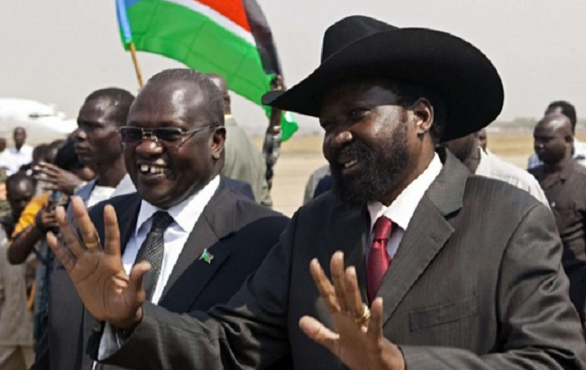 South Sudan President, Salva Kiir and opposition leader Dr. Riek Machar (File/Supplied/Nyamilepedia)