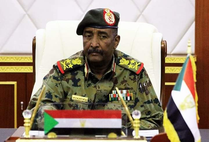 Head of TMC in Sudan Gen. Abdel Fatah Burhan (File/Supplied/Nyamilepedia)