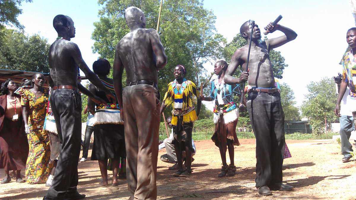Members of Lotuko youth performing a traditional dance(Photo credit: supplied/Nyamilepedia)
