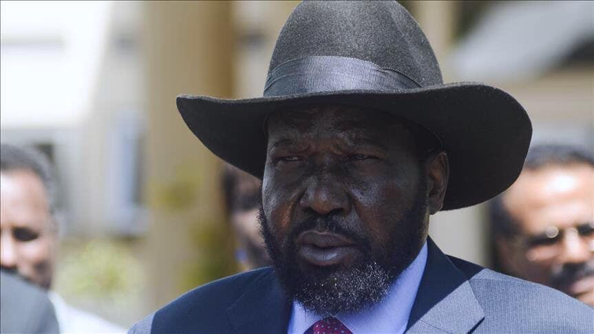 South Sudan President Salva Kiir Mayardit as he arrives in Khartoum for signing ceremony of transitional agreement between Sudan's military and protesters on Saturday, August 17th 2019 (File/Supplied/Nyamilepedia)