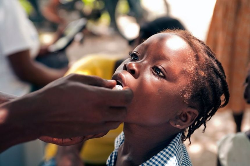 Child undergoing a vaccination in South Sudan (Photo credit: Supplied/Nyamilepedia)