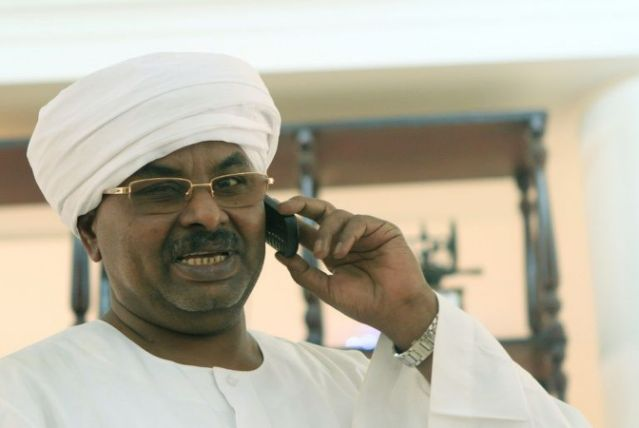 The former director general of Sudan's National Intelligence and Security Services , Salah Abdalla Mohamed Mohamed Salih, known as Salah Gosh, making a phone call (Photo credit: supplied)