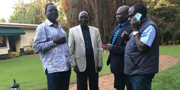 Oyai, Malong, Pagan and Cerilo meets in Nairobi (File/Supplied/Nyamilepedia)