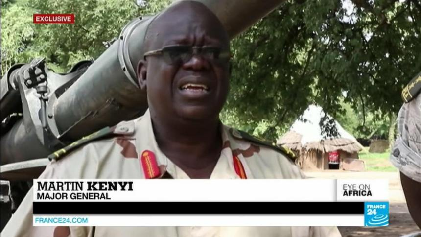 Late Lt. Gen. Kenyi Martin Kenyi, one of the SPLM/A(IO) generals who died on the way to Congo. According to witnesses, Gen. Kenyi died from exhaustion.(Photo credit: France24)