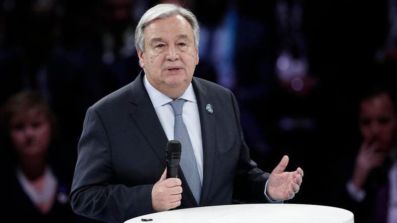 United Nations Secretary-General Antonio Guterres in Paris. (photo credit: AP)