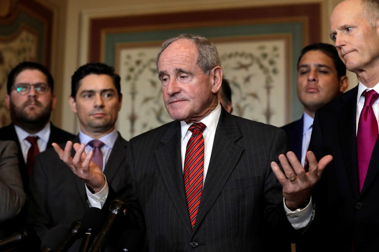 U.S. Senator Jim Risch (R-Idaho), chairman of the Senate Foreign Relations Committee, after a meeting with Carlos Alfredo Vecchio(Photo credit: file)