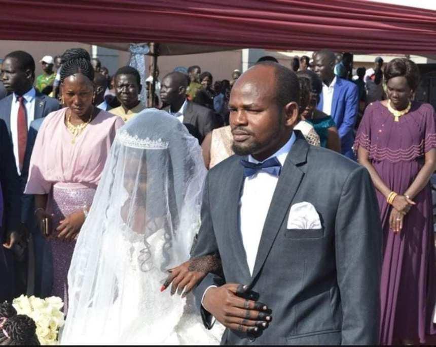 Lt. Col. Lual Kook Wol Kiir, a nephew to president Salva Kiir during his wedding at the presidential palace in Juba, Sept 2, 2019(Photo: supplied)