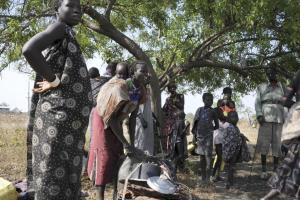 Members of the Murle tribe displaced by cattle raiding attacks are seen here in Pibor in South Sudan's eastern Jonglei state, on Jan. 5, in a photo released by the United Nations Mission in South Sudan (Photo credit: UNMISS)