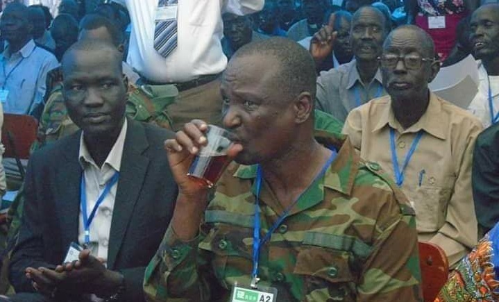 Taban Deng Gai drinking tea in Pagak in 2014 (Photo credit: unknown)