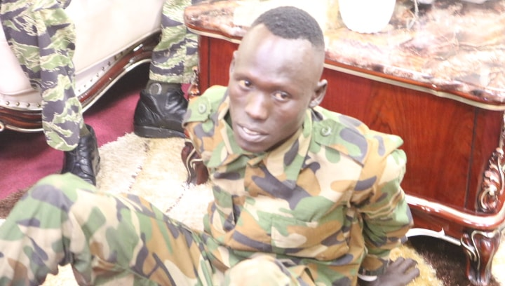 Suspected killer of two people in Juba (Photo by South Sudan Police Service)